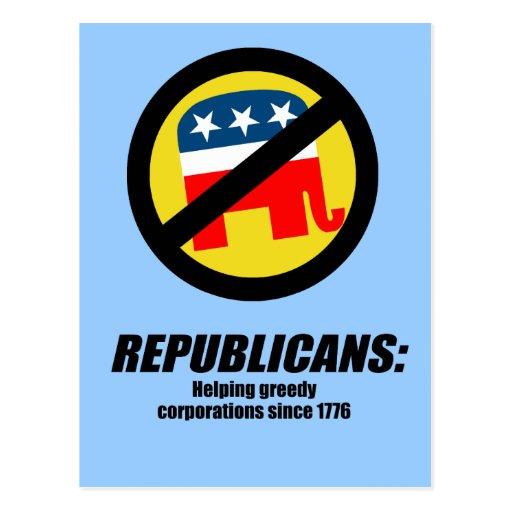 Republicanos - Greedy de ayuda Corporations Postal