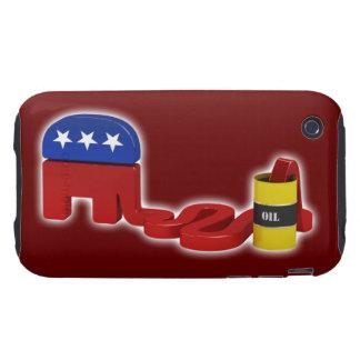 Republicanos hambrientos del aceite - caso del tough iPhone 3 cárcasas