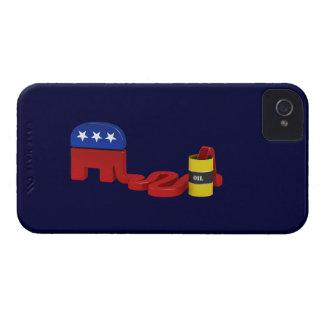 Republicanos hambrientos del aceite - caso del iPhone 4 Case-Mate fundas