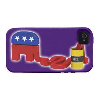 Republicanos hambrientos del aceite - caso del iPhone 4/4S fundas