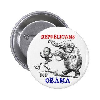 Republicanos para el botón de Obama Pins