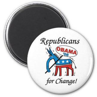 Republicanos para el imán redondo del cambio