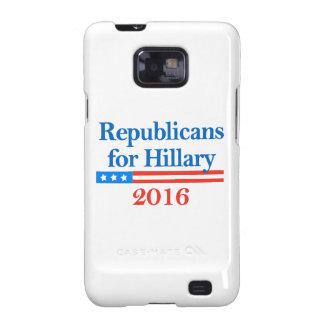 Republicanos para Hillary Clinton en 2016 Galaxy SII Fundas