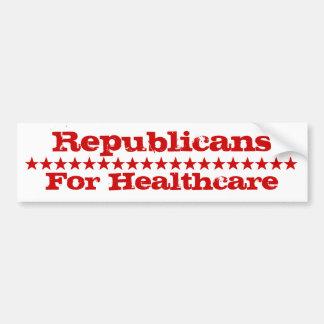 Republicanos para la atención sanitaria pegatina para auto
