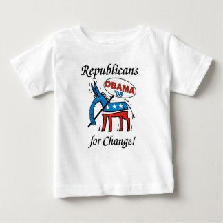 Republicanos para la camiseta del niño de Obama Playeras