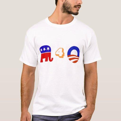 Republicanos para Obama Playera