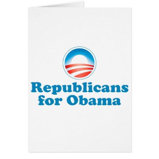 Republicanos para Obama Tarjeta De Felicitación