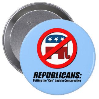 Republicanos - poniendo la estafa detrás en conser pins