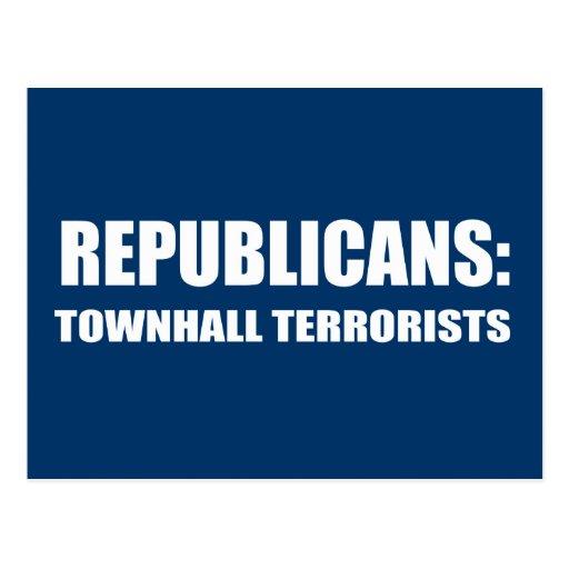 Republicanos - terroristas de Townhall Postal