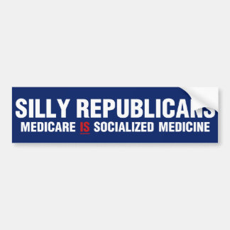 Republicanos tontos pegatina para auto