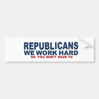 Republicanos: Trabajamos a la pegatina para el par Pegatina Para Auto