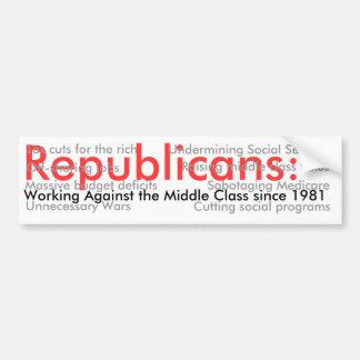Republicans: 1 bumper sticker