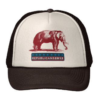 Republicans 2012 Vintage GOP Campaign Baseball Cap Trucker Hat