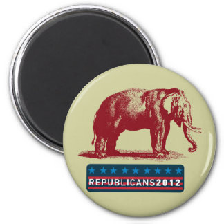 Republicans 2012 Vintage GOP Elephant Magnet
