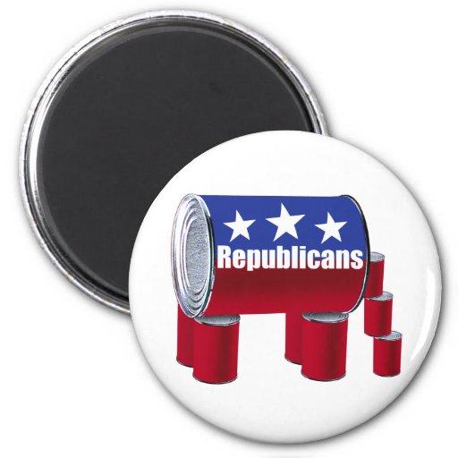 Republicans 2 Inch Round Magnet