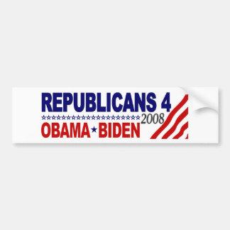 Republicans 4 Obama Biden Bumper Sticker