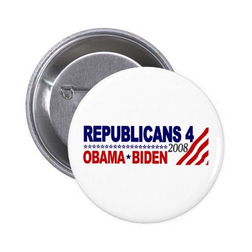 Republicans 4 Obama Biden Pin