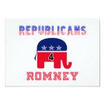 Republicans 4 Romney Custom Invitations