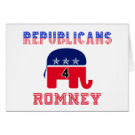 Republicans 4 Romney Greeting Cards
