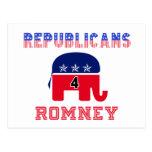 Republicans 4 Romney Post Cards