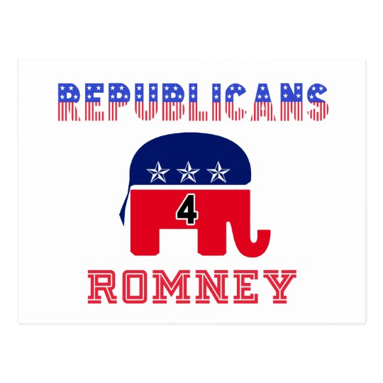Republicans 4 Romney Postcard