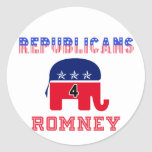 Republicans 4 Romney Round Sticker