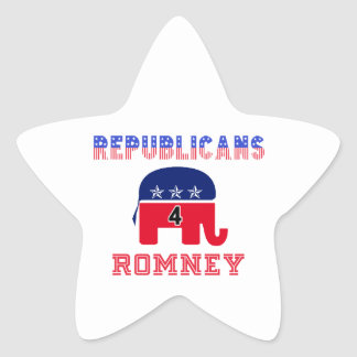 Republicans 4 Romney Star Sticker
