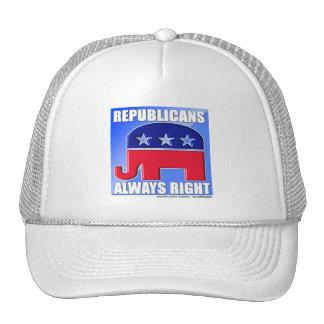 REPUBLICANS ALWAYS RIGHT TRUCKER HAT