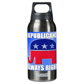 REPUBLICANS ALWAYS RIGHT INSULATED WATER BOTTLE