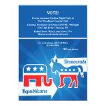 Republicans and Democrats Election Party Invitatio Card