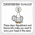 Republicans and Democrats make you independent Sticker