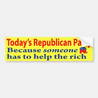 Republicans are Rich People Bumper Stickers