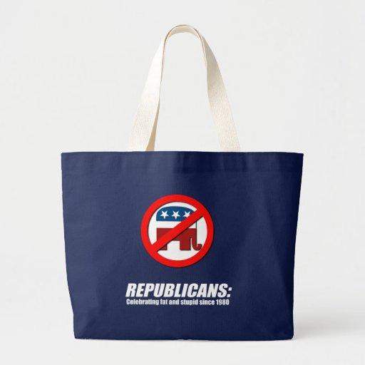 Republicans - Celebrating fat and stupid Jumbo Tote Bag
