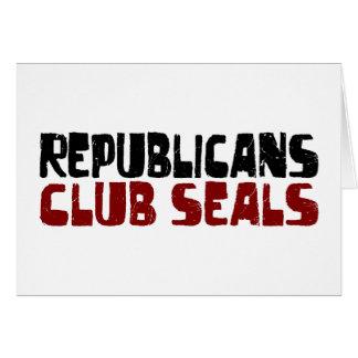 Republicans Club Seals Greeting Card