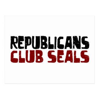 Republicans Club Seals Postcard
