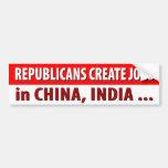 Republicans Create Jobs ... Bumper Stickers