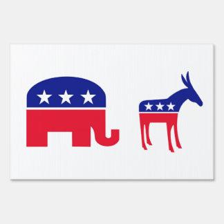 Republicans/Democrats Live here. Yard Sign
