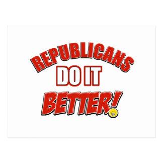 Republicans do it better postcard