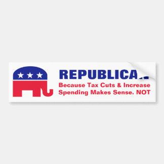 Republicans Don't Make Sense. Bumper Sticker