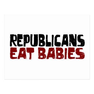 Republicans Eat Babies Postcard