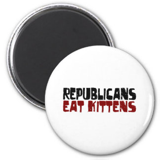 Republicans Eat Kittens 2 Inch Round Magnet