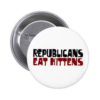 Republicans Eat Kittens Pinback Button