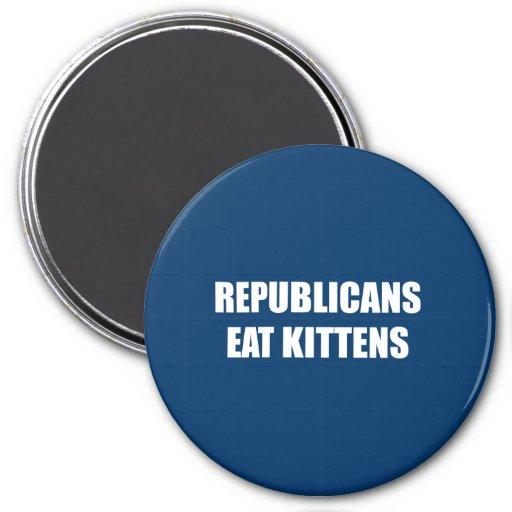 Republicans eat kittens refrigerator magnets
