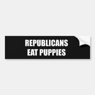 Republicans eat puppies bumper sticker