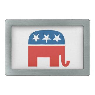 republicans elephant usa party elections rectangular belt buckles