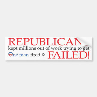 Republicans Failed! Bumper Sticker Car Bumper Sticker