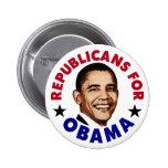 Republicans For Barack Obama Button