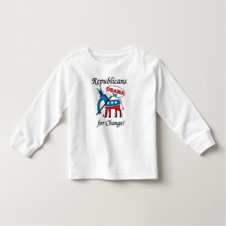 Republicans For Change Vote Obama Toddler LS Tshirts
