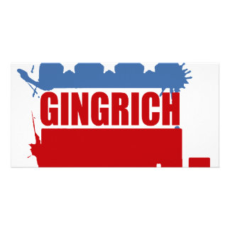 Republicans for Gingrich Photo Greeting Card