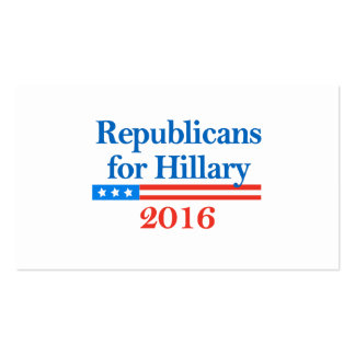 Republicans for Hillary Clinton in 2016 Business Card Templates